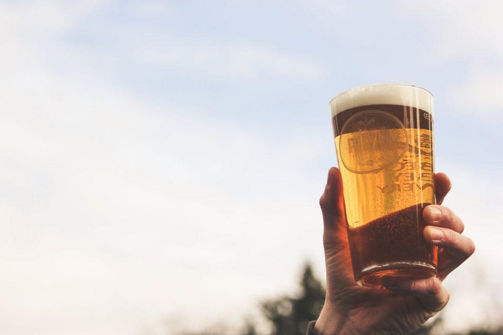lekker glas met bier